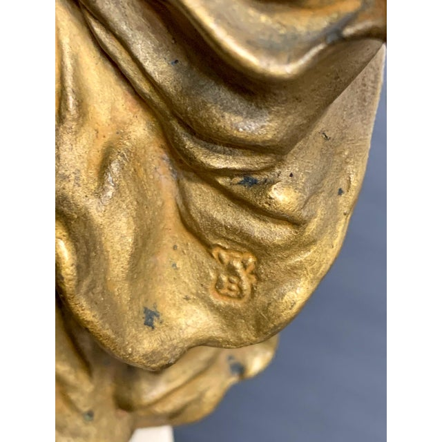 Bronze Cold Painted Orientalist Vienna Bronze by Franz Bergman For Sale - Image 8 of 9