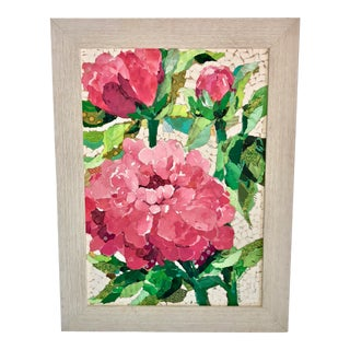 Pink Peonies Collage For Sale