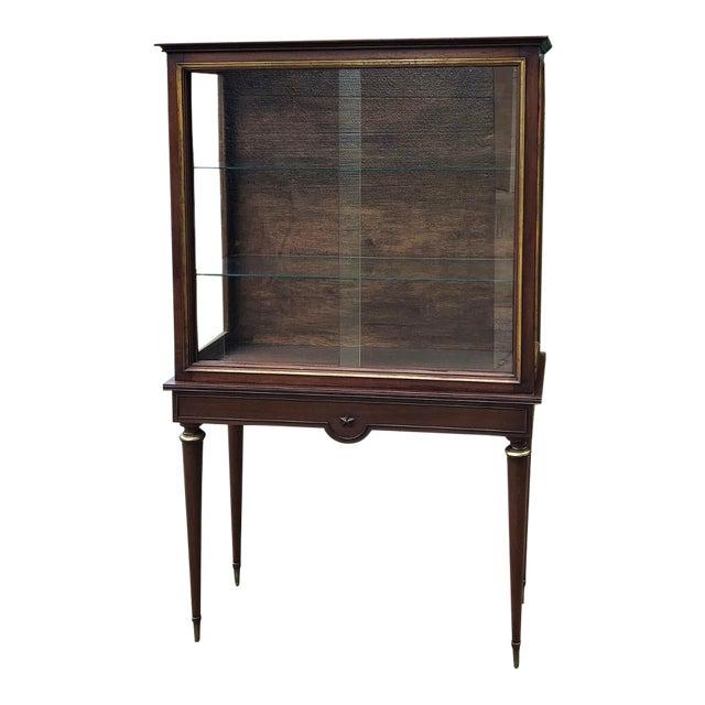 1900s Antique French Louis XVI Vitrine For Sale