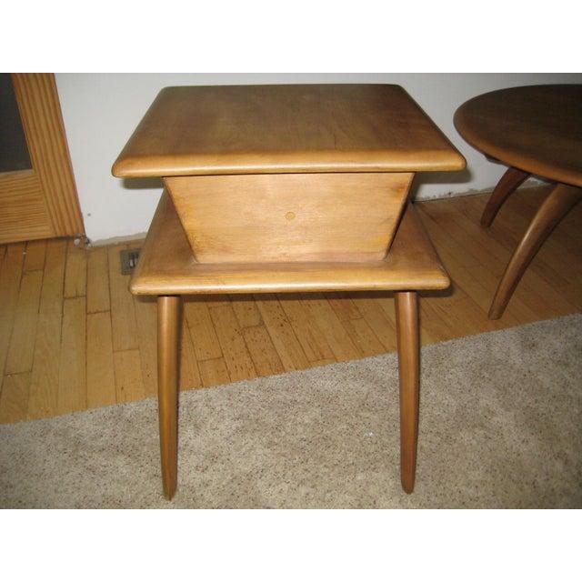 Heywood wakefield mid century coffee table end tables