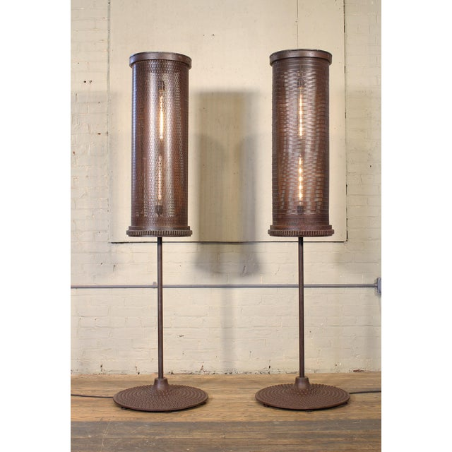 Industrial Factory Tumbler Industrial Prototype Floor Lamps For Sale - Image 3 of 12