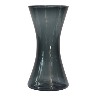 Wayne Husted for Blenko Charcoal 'Sheaf' Vase Model 5519-M For Sale