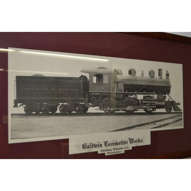 Baldwin Locomotive Works Pair of Vintage Framed Train Prints For Sale - Image 9 of 11