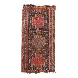 Handwoven Vintage Decorative Oversize Turkish Kilim Rug - 8′9″ × 17′3″ For Sale