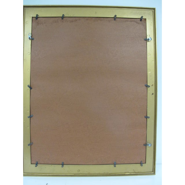 Asian 1960s Boho Chic Syroco Faux Bamboo Mirror For Sale - Image 3 of 10