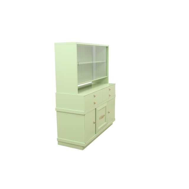 Basic Witz Midcentury Green Sideboard For Sale In Tampa - Image 6 of 11