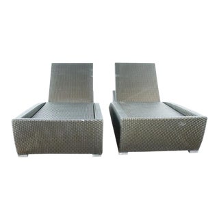 Modern Brown Jordan Lounge Chaise- a Pair For Sale