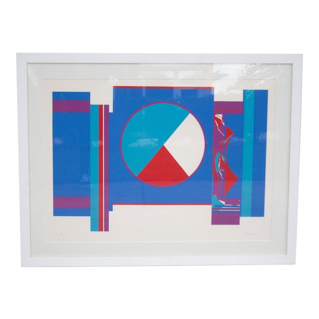 Original Budd Hopkins Untitled Abstract Expressional Serigraph, 1975 For Sale
