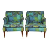 Image of 1950s Vintage Mid Century Modern Milo Baughman Lounge Chairs - a Pair For Sale