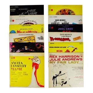 Collection of 12 Vintage Decorative Broadway Musical Lp Covers For Sale