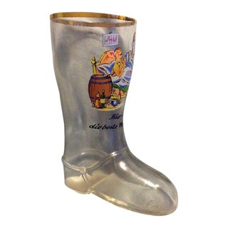 Vintage Novelty German Glass Mini Drinking Boot