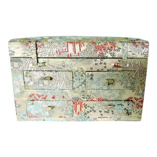 Oriental Brocade Jewelry Box