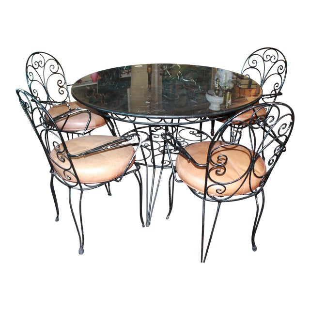 20th Century Art Nouveau Dining Set - 5 Pieces For Sale