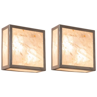 "Pure Rock Crystal Sconces, ""Classic Cube,"" Demian Quincke For Sale"