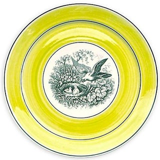 Vintage German Mottahedah Nesting Bird Plate For Sale