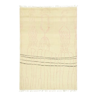 Contemporary Moroccan Rug Inspired by Cy Twombly - 05'08 X 08'01 For Sale