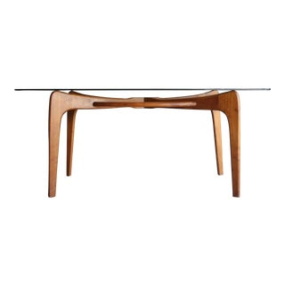"Adrian Pearsall Walnut ""Compass"" Dining Table"