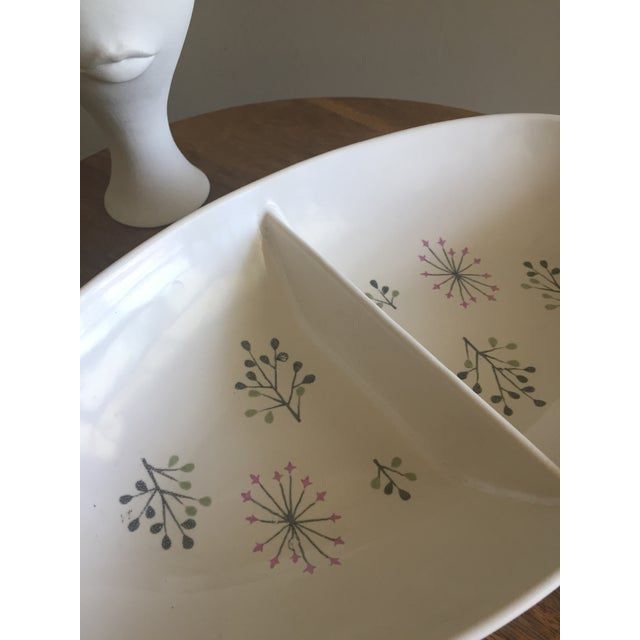 "Gladding, McBean Franciscan Ware ""Echo"" Pattern Serving Dish For Sale - Image 4 of 4"