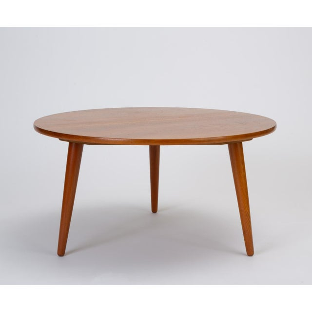 Andreas Tuck Hans Wegner Three-Legged Teak Coffee Table for Andreas Tuck For Sale - Image 4 of 12