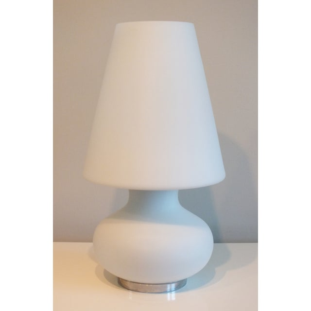 "Mid-Century 22"" Tall Frosted Glass Lamp - Image 2 of 10"