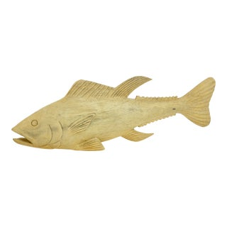 Carved Wood Tuna Fish For Sale