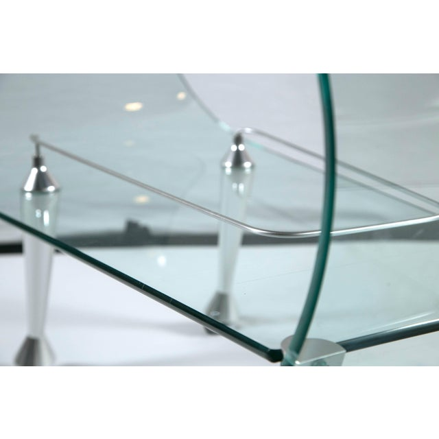 Glass 1960s Mid-Century Modern Glass Sculpted Bar by Fiom For Sale - Image 7 of 8