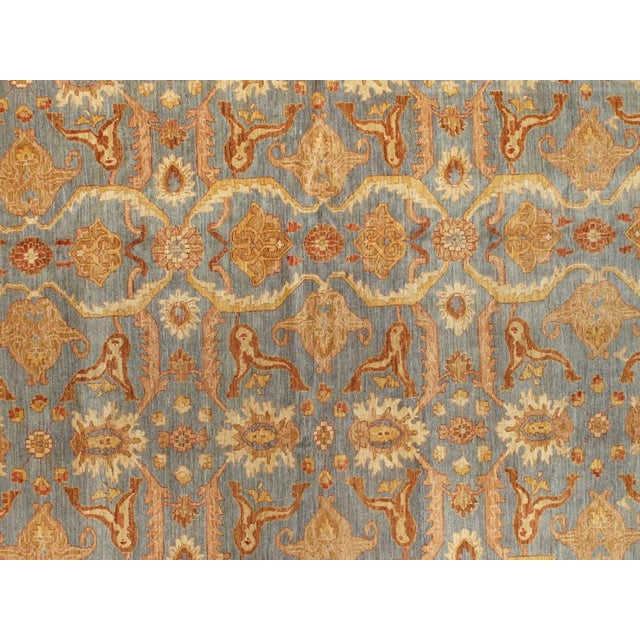 Traditional Floral Slate/Orange/Sienna Area Rug - 12′10″ × 17′ For Sale - Image 3 of 5