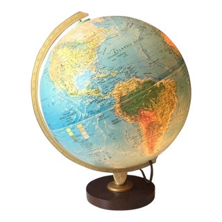 Light Up World Globe With Stand For Sale