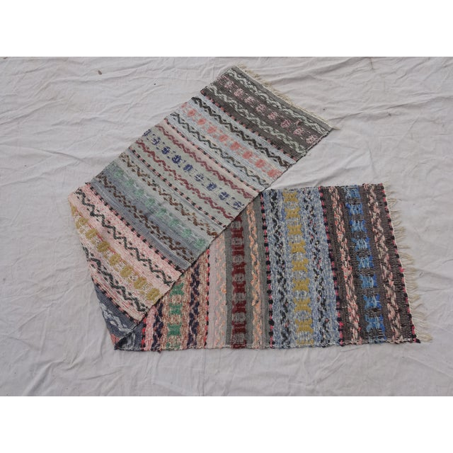 This is a antique hand woven Swedish oval Rag Rug. Beautiful item to add to your decor!