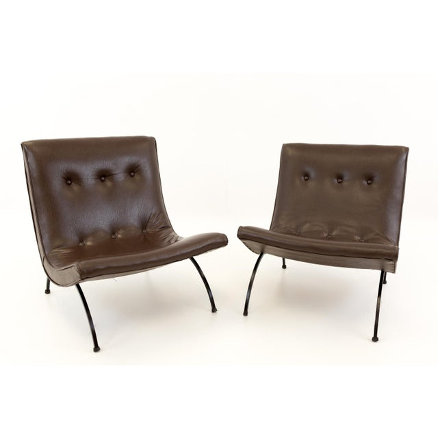 Mid Century Modern Milo Baughman Scoop Lounge Chairs- A Pair For Sale - Image 11 of 11