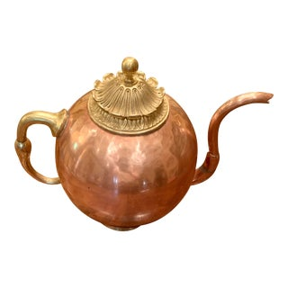 Vintage Copper and Brass Pot For Sale