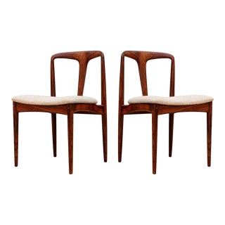 """Johannes Andersen Rosewood"""" Juliane"""" Dining Chairs- A Pair For Sale"""