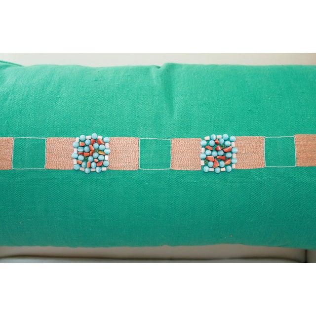Aqua Blue Lumbar Pillow - Image 3 of 4