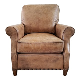Victoria Arm Chair in Bedford Branston Leather For Sale