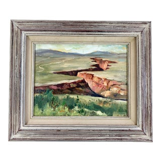 Salvatore Giglio Original Oil on Canvas Southwest Landscape Signed Painting For Sale