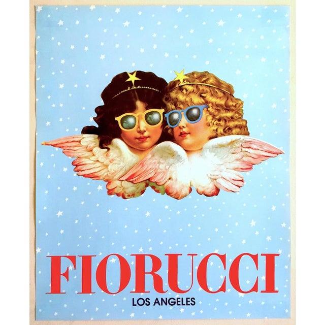 "Rare Original Vintage 1980 "" Fiorucci Los Angeles "" New Wave Post Modern Italian Fashion Pop Art Poster For Sale - Image 11 of 11"