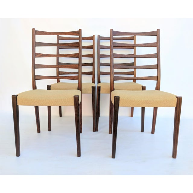 1960s Danish Modern Svegards Markaryd Rosewood Ladder Back Dining Chairs - Set of 4 For Sale - Image 13 of 13