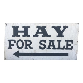 Large Double-Sided Maine Farm Sign - Hay for Sale