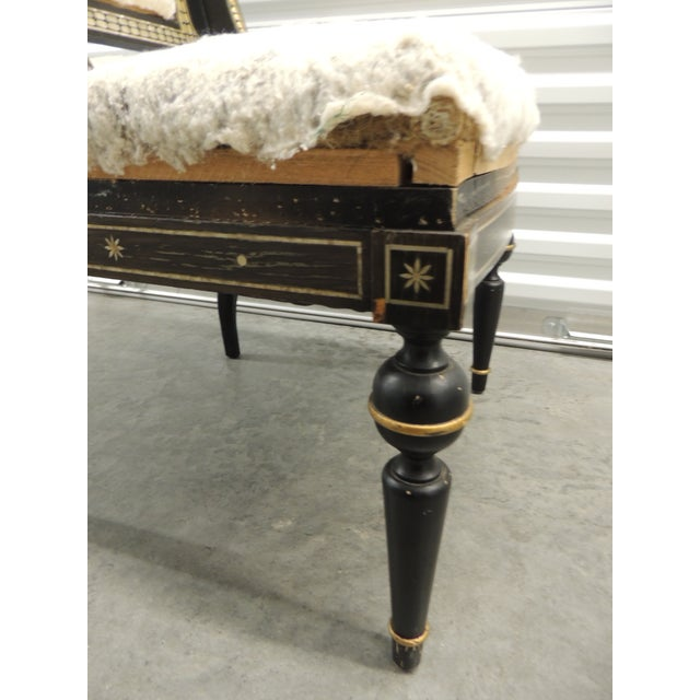 Vintage Moroccan Mother-Of-Pearl Inlaid Frame and Ebonized Wood For Sale - Image 9 of 12