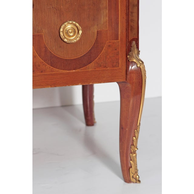 French Ormolu Mounted Fruitwood Chest With Shaped Marble Top - Image 6 of 10