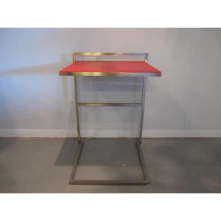 Modern Poltrona Frau Red Leather Accent Table Preview