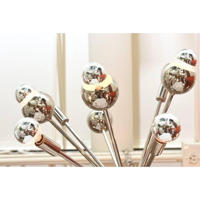 Nickel Silver 24 Bulb Sputnik Vintage Chandelier - Image 7 of 10