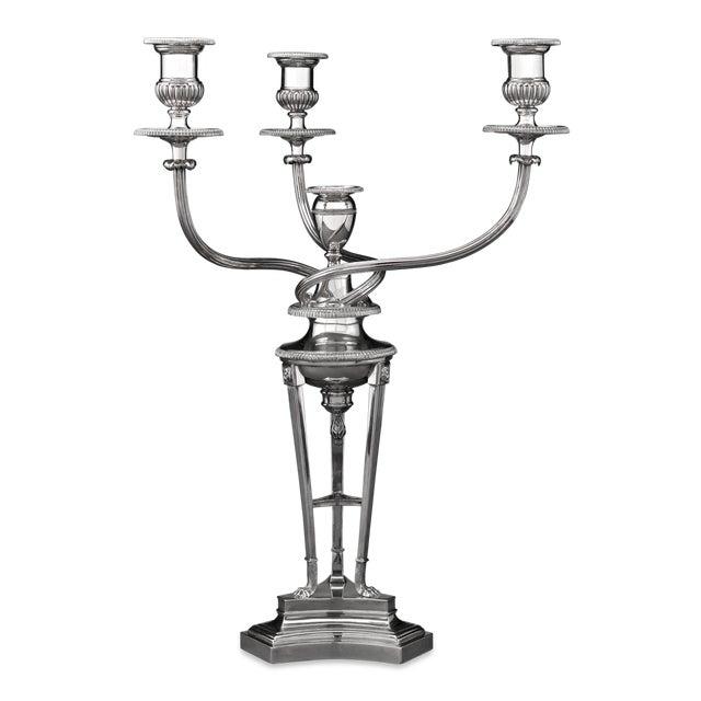 Silver Matthew Boulton Sheffield Plate Candelabrum For Sale - Image 8 of 8