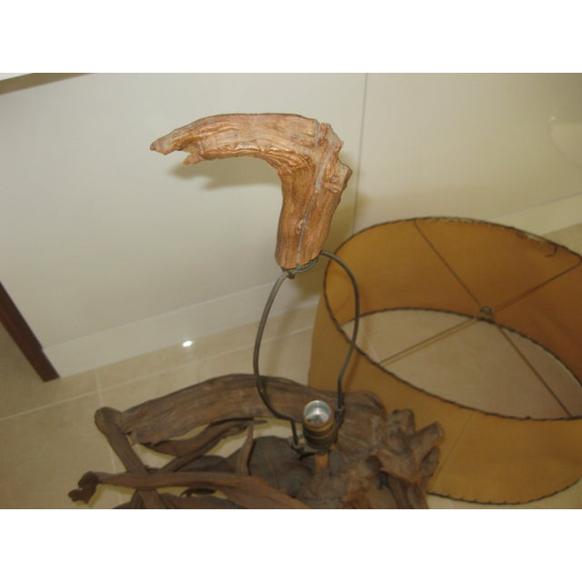 Mid-Century Modern Driftwood Table Lamp For Sale In Orlando - Image 6 of 12