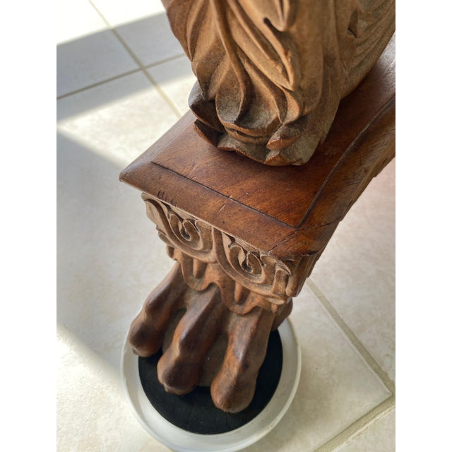 Antique Burmese Carved Dining Table For Sale In Miami - Image 6 of 7
