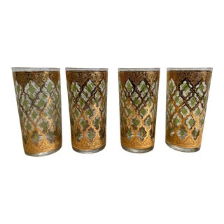 Culver Valencia Highball Glasses - Set of 4 For Sale