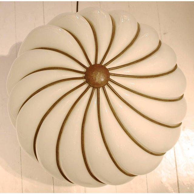 1970s Murano glass ball shaped table lamp.