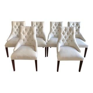 Restoration Hardware Martine Upholstered Armchairs - Set of 6 For Sale