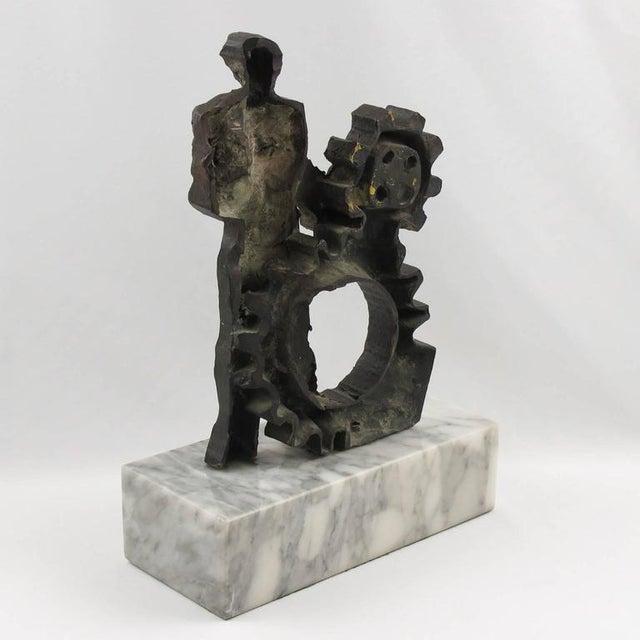 Mid-Century Modernist Brutalist Bronze Sculpture For Sale - Image 9 of 11