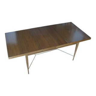 1950s Mahogany & Brass Extension Dining Table by Paul McCobb For Sale